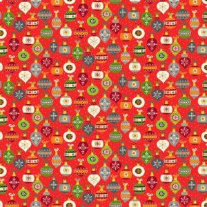 Makower Baubles red - 2381