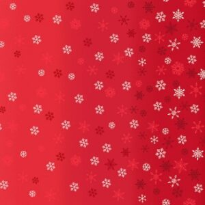 Makower Ombre Red Snowflake