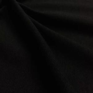 black jersey ponte roma, black stretch jersey fabric