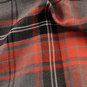 Grey and terracotta orange fashion tartan, grey and orange tartan, grey and terracotta tartan by the quarter metre, grey and terracotta orange tartan by the half metre, grey and terracotta orange tartan by the metre, grey and orange tartan by the metre