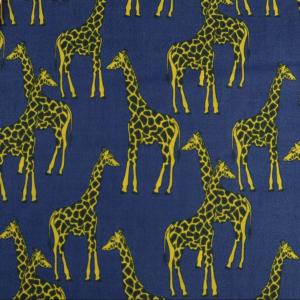 Navy Giraffe Polyester Cotton, Navy Giraffe Poly Cotton, giraffe print poly cotton, giraffe print fabric, giraffe print poly cotton by the quarter metre, giraffe print poly cotton by the half metre, giraffe print poly cotton by the metre, giraffe print fabricv by the metre